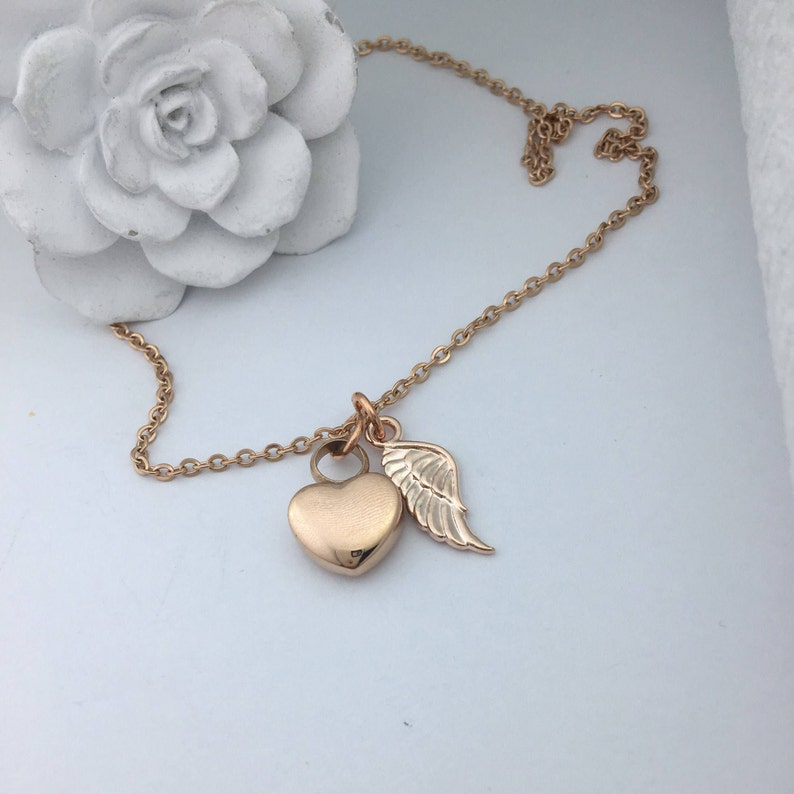 Cremation Urn Jewelry, Rose Gold Necklace For Ashes, Memorial Keepsake  Pendant, Loss Of Brother