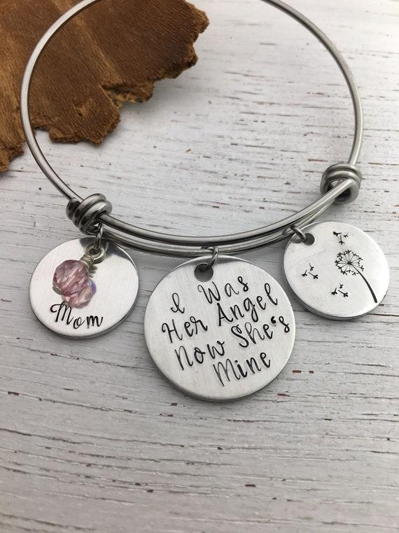 En mémoire de maman Memorial Collier Bijoux-Deuil Ange Cadeau Perte mère