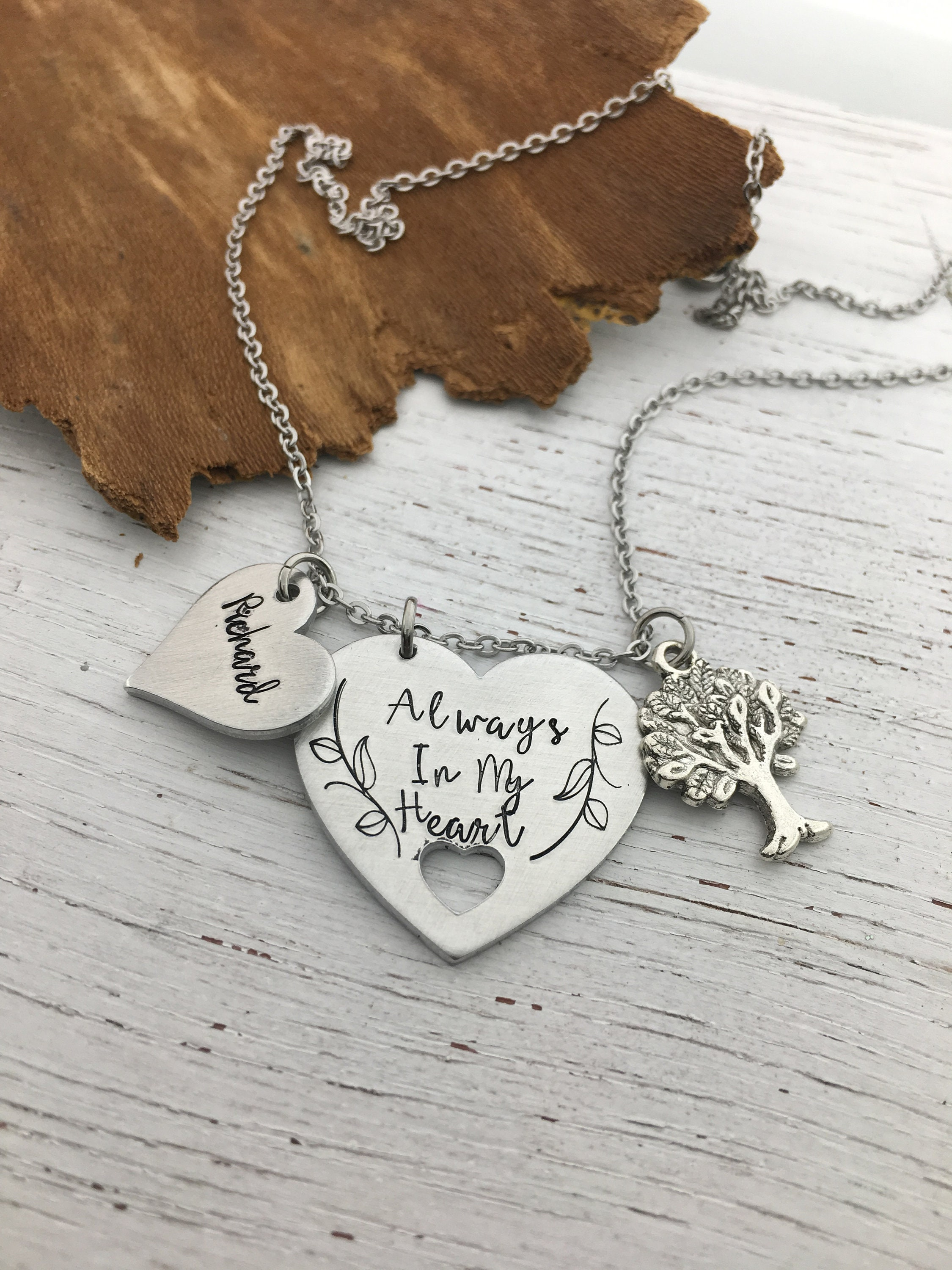 Memorial Necklace Loss of Father Memorial Gift Memorial Jewelry Memory Necklace Memorial Keepsake Loss of Husband Loss of Brother