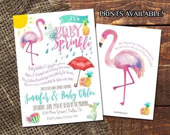 FLAMINGO BABY SPRINKLE | Watercolor Summer Baby Shower