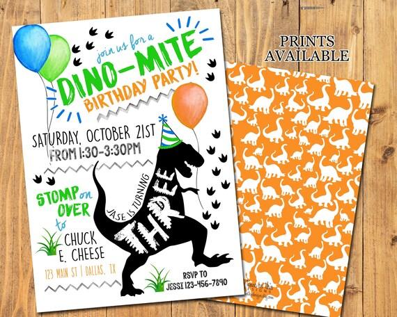 dinosaur party invitation dinosaur birthday party trex etsy