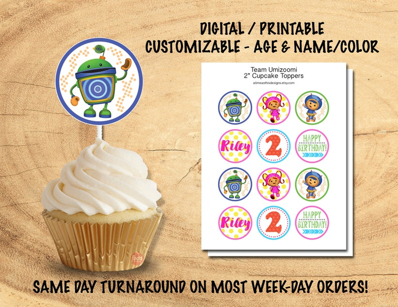 UMIZOOMI CUPCAKE TOPPERS Team Umizoomi Party Decor