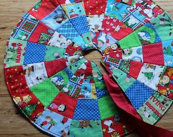 """Peanuts Christmas Tree Skirt 006  24 """""""