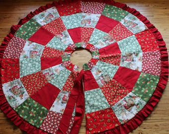 """Christmas Tree Skirts    Santa and friends    36"""" and 45"""""""