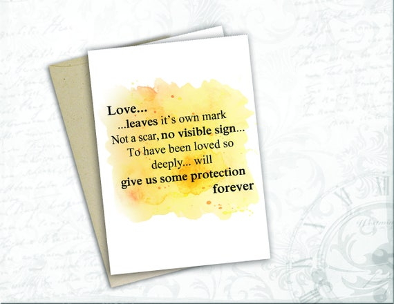 Harry Potter Gift Card Jk Rowling Quote Love Dumbledore Book Etsy