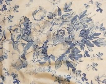 Rare Ralph Lauren retired Elsa blue/navy rose/floral  duvet cover full/queen size
