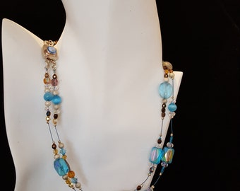 2 strand necklace and earring set