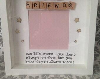 Good Friends are like Stars Scrabble photo Frame