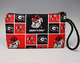 Georgia Bulldogs Montego Wristlet Wallet Cosmetic Phone Pouch