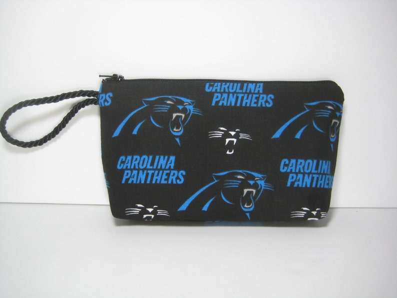 Wallet Makeup Pouch Carolina Panthers Wristlet