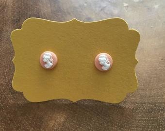 Cameo Stud Earrings Tiny Cameo Post Earrings Cameo Jewelry Cameo  Earrings Romantic Jewelry Vintage Inspired Jewelry Feminine Gift