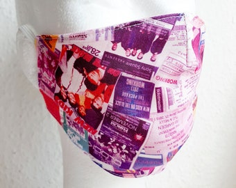 Ready to ship! Pink Summer Facie MEMORIES - exclusive pattern - NKOTB - New Kids On The Block - Unique