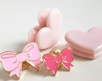 Paperclips and Enamel-Pins BOWS & HEARTS