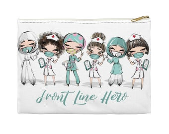 Brown Hair Front Line Hero - Accessory Pouch