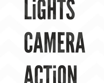 Lights Camera Action - File for Cricut - Silhouette Cameo/Portrait