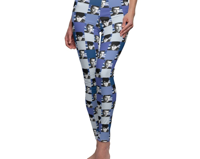 Leggings SQUARED NKOTB JORDAN blue by Iris C. Reinhardt - exclusive pattern - New Kids On The Block
