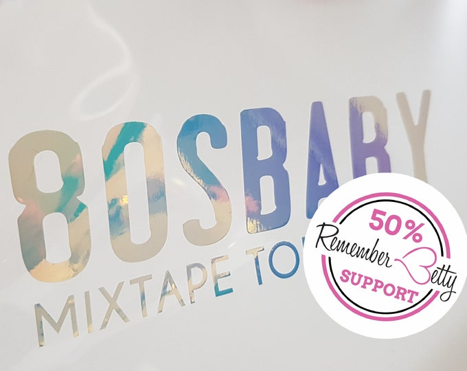 Featured listing image: Decal - Aufkleber - 80s Baby - Mixtape Tour