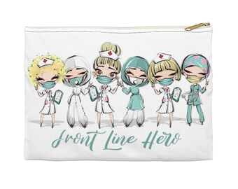 Blonde Hair Front Line Hero - Accessory Pouch