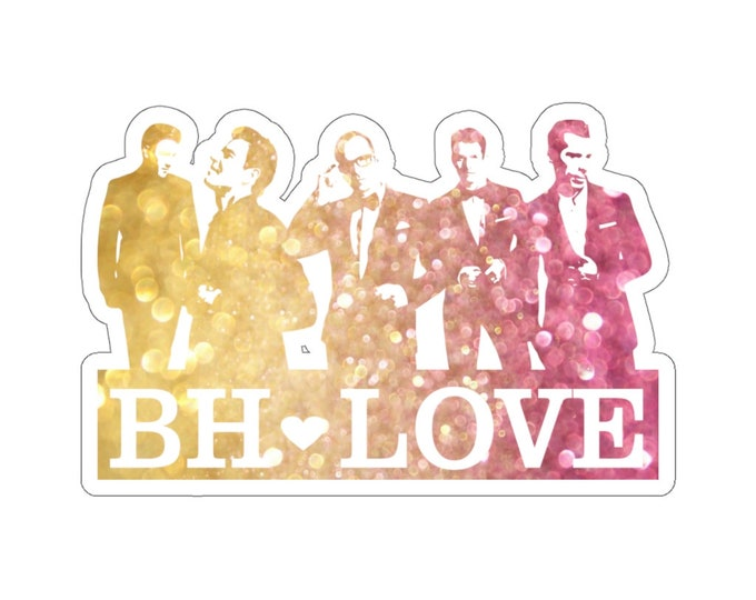 BH Love rainbow - NKOTB - Sticker white