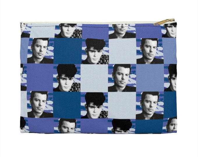 Accessory Pouch SQUARED NKOTB JORDAN blue by Iris C. Reinhardt - exclusive pattern - New Kids On The Block