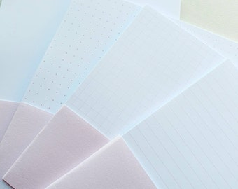 B6 Inserts, blank, dotted, lined or squared pink