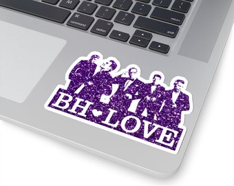 BH Love purple - NKOTB - Sticker white