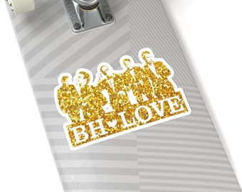 BH Love gold - NKOTB - Sticker white