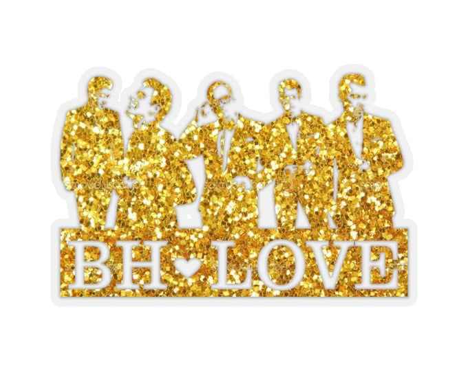 BH Love gold - NKOTB - Sticker transparent