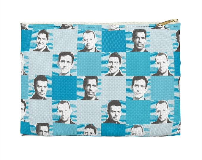 Accessory Pouch  SQUARED NKOTB turquoise by Iris C. Reinhardt - exclusive pattern - New Kids On The Block