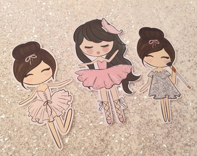 Sweet set of 3 beautiful die cut babes, the perfect accessorie for your planner