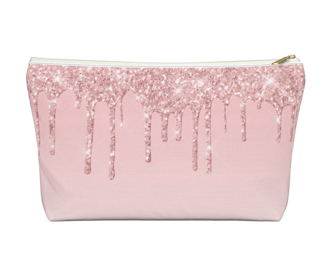 Glitterpink Accessory Pouch with T-bottom