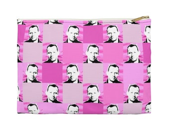 Accessory Pouch  SQUARED NKOTB DONNIE pink by Iris C. Reinhardt - exclusive pattern - New Kids On The Block