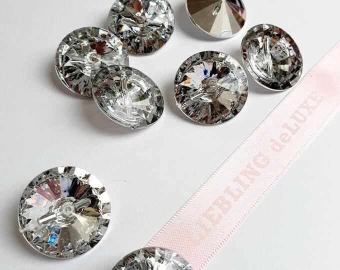 Rhinestone buttons big Acryl