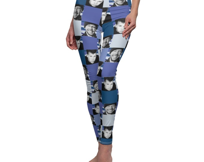 Leggings SQUARED NKOTB DONNIE blue by Iris C. Reinhardt - exclusive pattern - New Kids On The Block