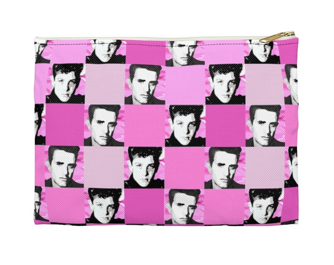 Accessory Pouch SQUARED NKOTB JOE pink by Iris C. Reinhardt - exclusive pattern - New Kids On The Block