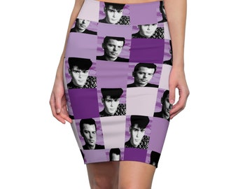 Pencil Skirt SQUARED NKOTB JORDAN purple by Iris C. Reinhardt - exclusive pattern - New Kids On The Block