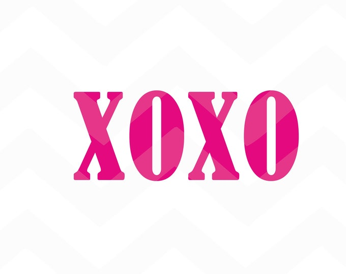 XOXO - File for Cricut - Silhouette Cameo/Portrait