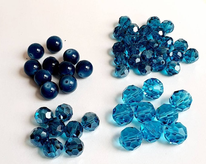Exclusive Set of bluetone Glassbeads