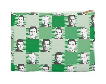 Accessory Pouch SQUARED NKOTB green by Iris C. Reinhardt - exclusive pattern - New Kids On The Block