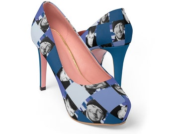 Platform Heels SQUARED NKOTB DONNIE blue by Iris C. Reinhardt - exclusive pattern - New Kids On The Block