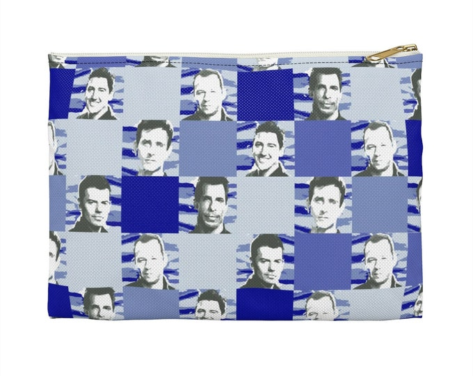 Accessory Pouch SQUARED NKOTB blue by Iris C. Reinhardt - exclusive pattern - New Kids On The Block