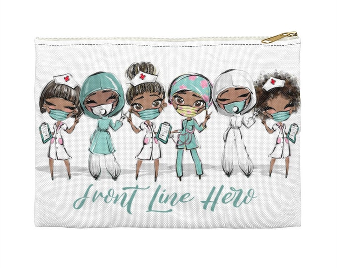 Dark Hair Front Line Hero - Accessory Pouch