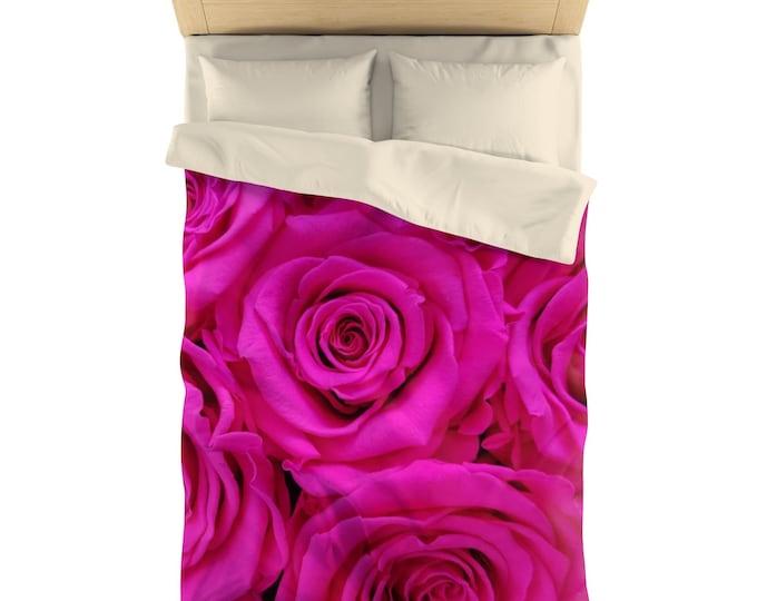 Microfiber Duvet Cover ROSES