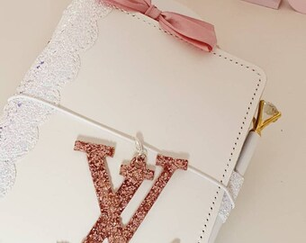 Glamorous Designer inspired Planner Charm with beautiful pink Glitter