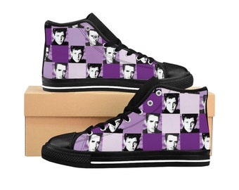 Women's High-top Sneakers SQUARED NKOTB JOE purple by Iris C. Reinhardt - exclusive pattern - New Kids On The Block