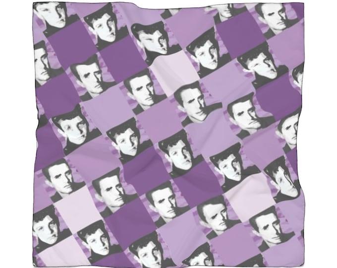 Poly Scarf SQUARED NKOTB JOE purple by Iris C. Reinhardt - exclusive pattern - New Kids On The Block