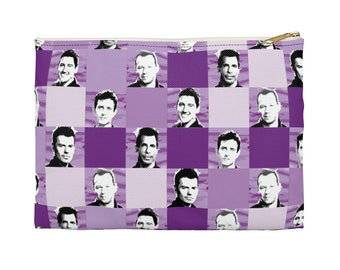 Accessory Pouch SQUARED NKOTB  purple by Iris C. Reinhardt - exclusive pattern - New Kids On The Block