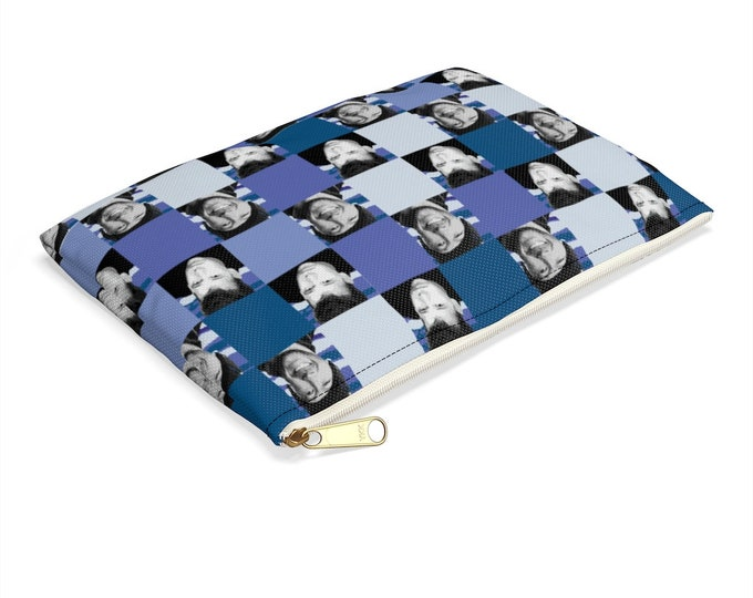 Accessory Pouch SQUARED NKOTB DONNIE blue by Iris C. Reinhardt - exclusive pattern - New Kids On The Block