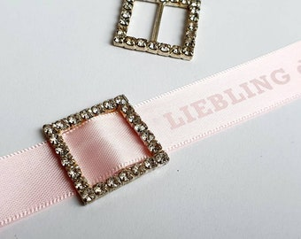 Rhinestone buckles decorative / crystal buckles for bouquets, wedding decorations, invitation buckles, shoe buckles