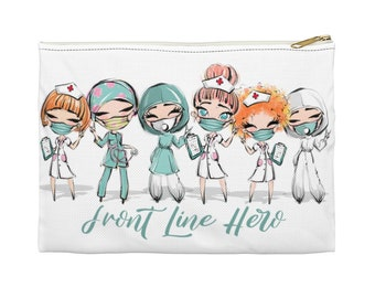 Red Hair Front Line Hero - Accessory Pouch